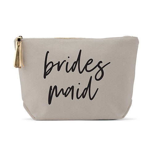 Light Gray Makeup & Toiletry Bag - Bridesmaid - InCasaGifts