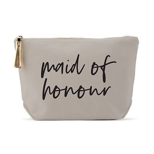 Light Gray Makeup & Toiletry Bag - Maid of Honour