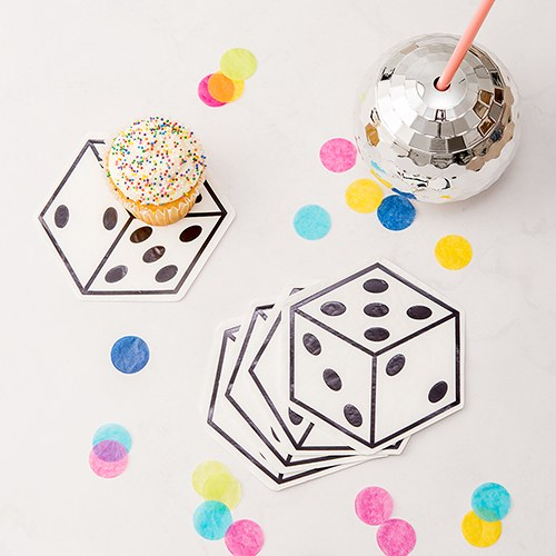 Cute Special Occasion Paper Party Napkins - Vegas Dice - Set of 20 - InCasaGifts