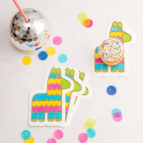 Cute Special Occasion Paper Party Napkins - Fiesta Piñata - Set of 20 - InCasaGifts