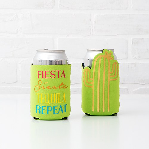 Neoprene Foam Drink Holder - Fiesta, Siesta, Tequila, Repeat - InCasaGifts
