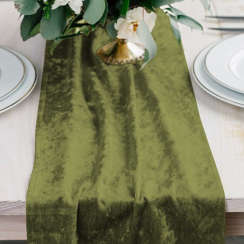 Velvet Table Runner - Emerald Green - InCasaGifts