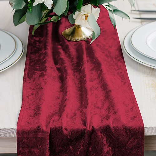 Velvet Table Runner - Ruby Red - InCasaGifts