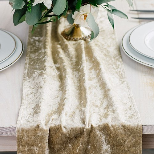 Velvet Table Runner - Champagne Gold - InCasaGifts