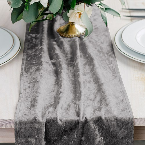Velvet Table Runner - Silver - InCasaGifts