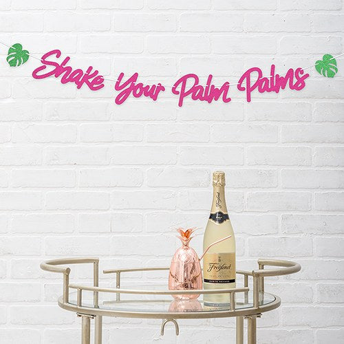 Paper Bachelorette Party Banner - Shake Your Palm Palms - InCasaGifts
