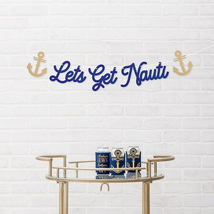 Paper Bachelorette Party Banner - Let's Get Nauti - InCasaGifts