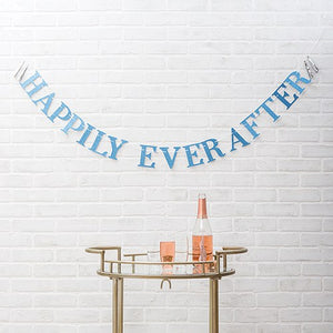 Paper Bachelorette Party Banner - Happily Ever After - InCasaGifts