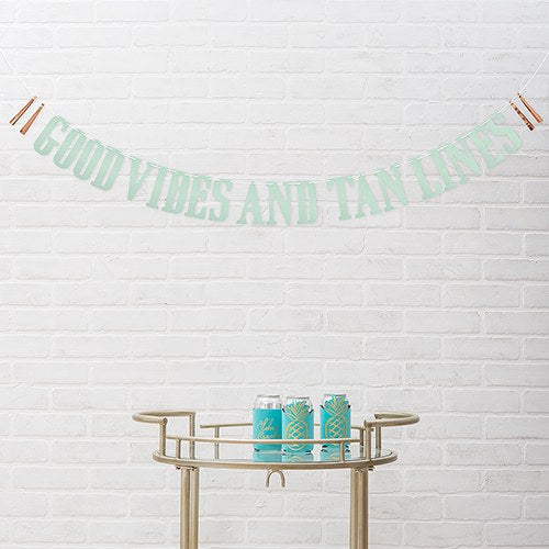 Paper Bachelorette Party Banner - Good Vibes - InCasaGifts