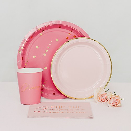 Disposable Paper Tableware Party Sets - Pop the Champagne - Serves 24 - InCasaGifts