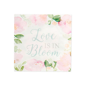 Cute Special Occasion Paper Party Napkins - Love is in Bloom - Set of 20 - InCasaGifts