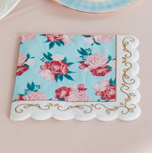 Cute Special Occasion Paper Party Napkins - Modern Floral - Set of 20 - InCasaGifts