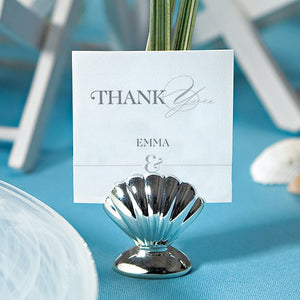 Sea Shell Silver Place Card Holders