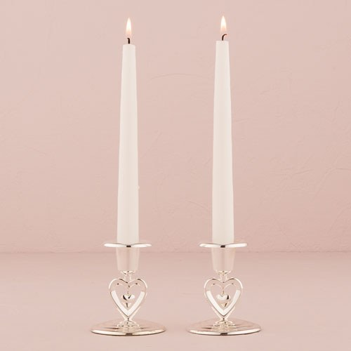Suspended Heart Taper Candle Holders - InCasaGifts