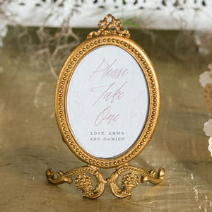 Small Oval Baroque Frame - Gold - InCasaGifts