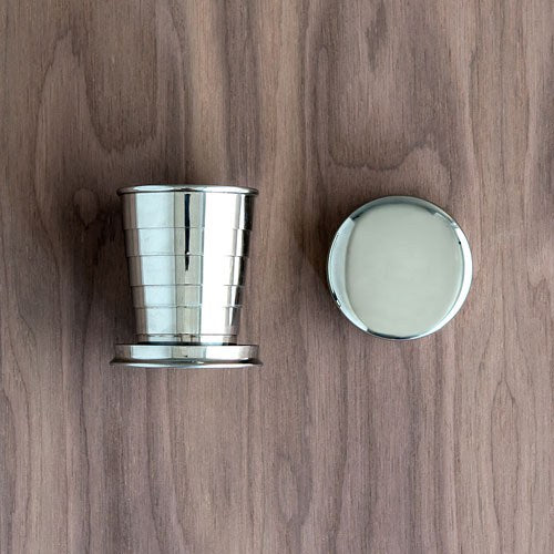 Silver Stainless Steel Collapsible Shot Glass - InCasaGifts