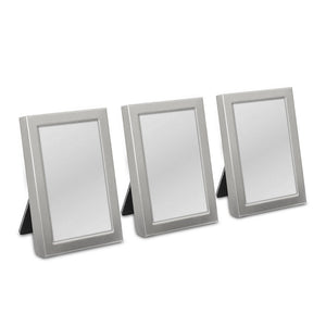 Mini Photo frame Favor in Gold or Silver Easel Back (3) Brushed Silver - InCasaGifts