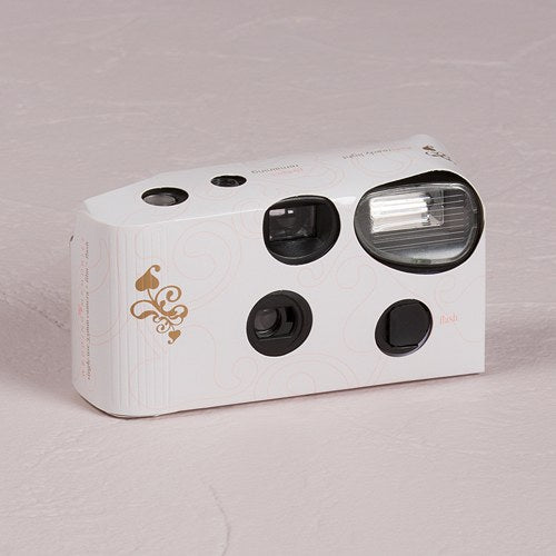 Disposable Camera with Flash – Gold Filigree