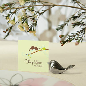 Love Bird Card Holders - Brushed Silver (8)