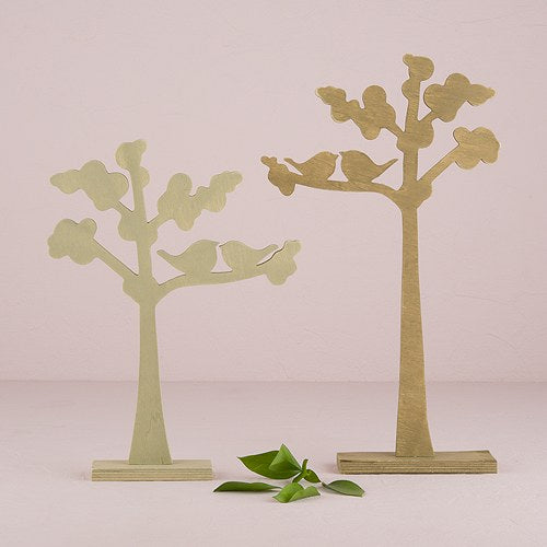 Wooden Die-cut Trees with
