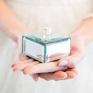 Small Mirrored Keepsake Box with Lid (4)