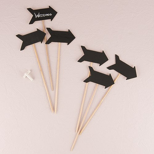 Wooden Black Board Stick in Directional Arrow Shape (6) - InCasaGifts