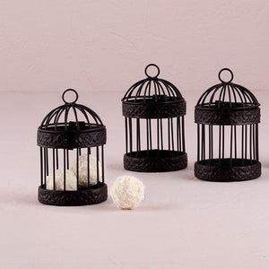 Small Black Birdcage Favor Containers (4)