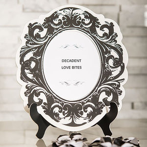 Baroque Paper Frames with Table Easel - Large Black And White
