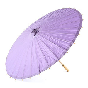 Pretty Paper Parasol with Bamboo Handle - Lavender - InCasaGifts