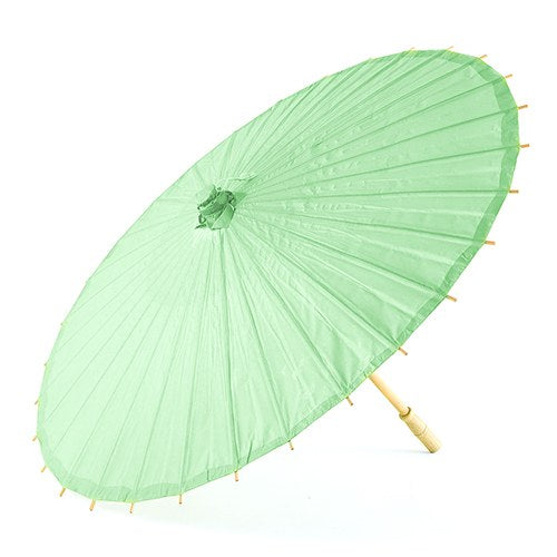 Pretty Paper Parasol with Bamboo Handle - Daiquiri Green - InCasaGifts