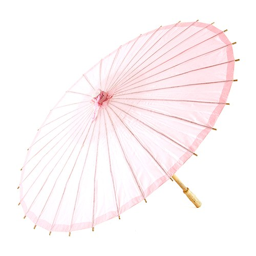 Pretty Paper Parasol with Bamboo Handle - Vintage Pink - InCasaGifts