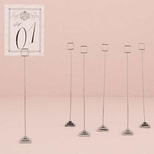 Silver Table Number Holder with Tiered Base (6) - InCasaGifts