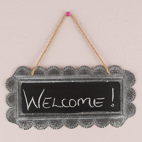 Large Tin Chalkboard Sign - Plain - InCasaGifts