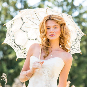Antiqued Battenburg Lace Parasol - Standard - InCasaGifts