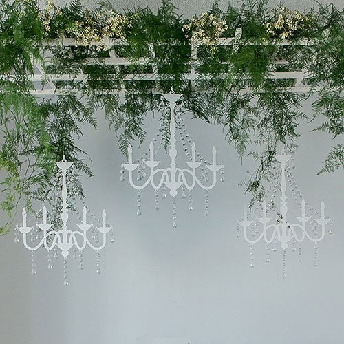 Chandelier Silhouette Wall Decoration White