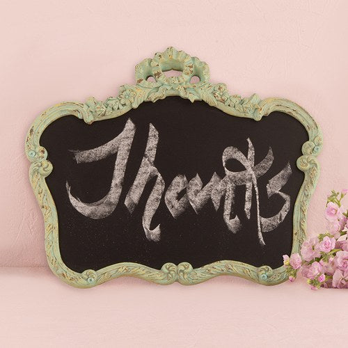 Blackboard in Ornate Vintage Frame in Aged Green Daiquiri Green - InCasaGifts