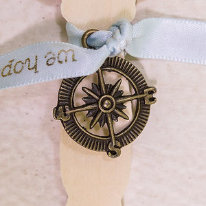 Compass Charms (12) Gold