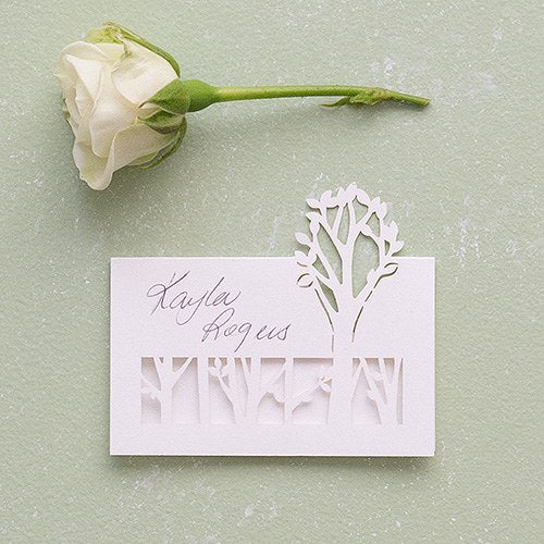 Woodland Pretty Laser Embossed Place Cards - InCasaGifts