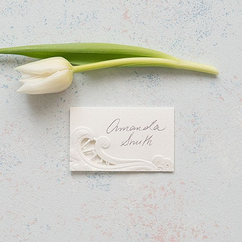 Lace Opulence Laser Embossed Place Cards - InCasaGifts
