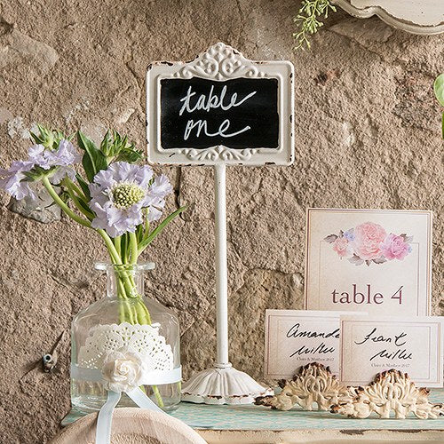 Tabletop Antique White Blackboard Stand White - InCasaGifts