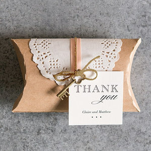 Kraft Favor Box with Lace Wrapper Chocolate Brown