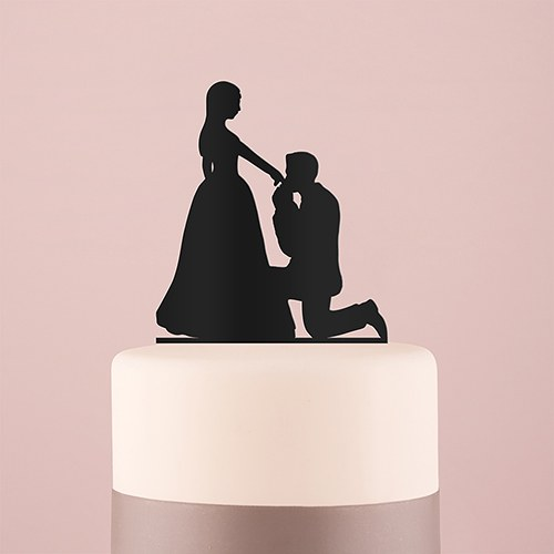 Cinderella Moment Silhouette Acrylic Cake Topper - Black - InCasaGifts