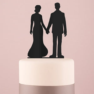 Hands Silhouette Acrylic Cake Topper - Black - InCasaGifts