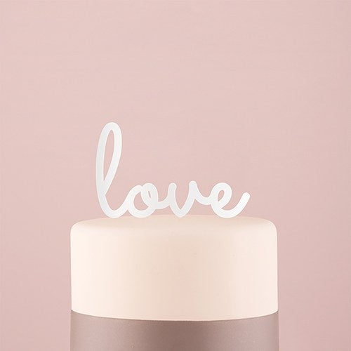 Love Acrylic Cake Topper - White - InCasaGifts