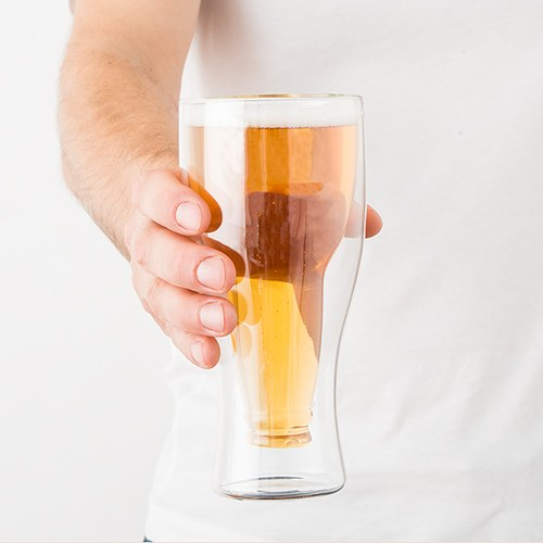 Double Walled Beer Glasses Groomsmen and Best Man Gift