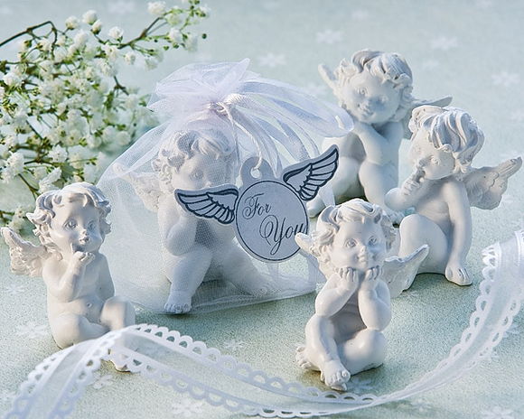 Little Angel Cherub Figurine Favors (Set of 4)