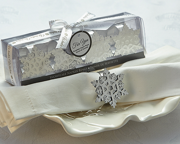 Winter Wishes Snowflake Napkin Rings Favor - CLOSEOUT PRICE! - InCasaGifts