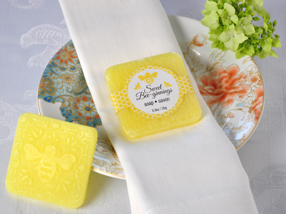 Sweet Bee-Ginnings' Scented Soap Favor - CLOSEOUT PRICE