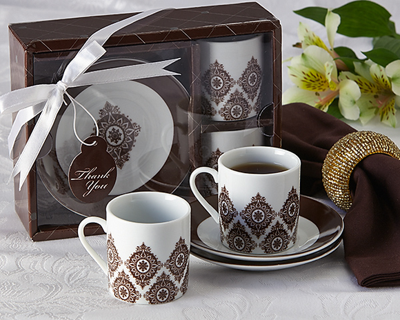 Moroccan Flair Espresso Coffee Cup Set Favor - InCasaGifts