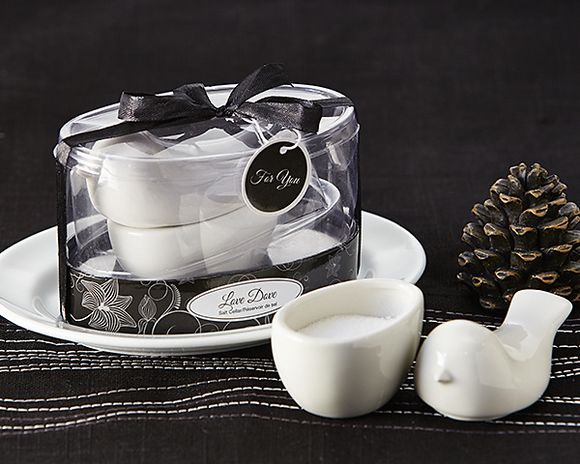 Love Dove' Salt Cellar Favor - InCasaGifts